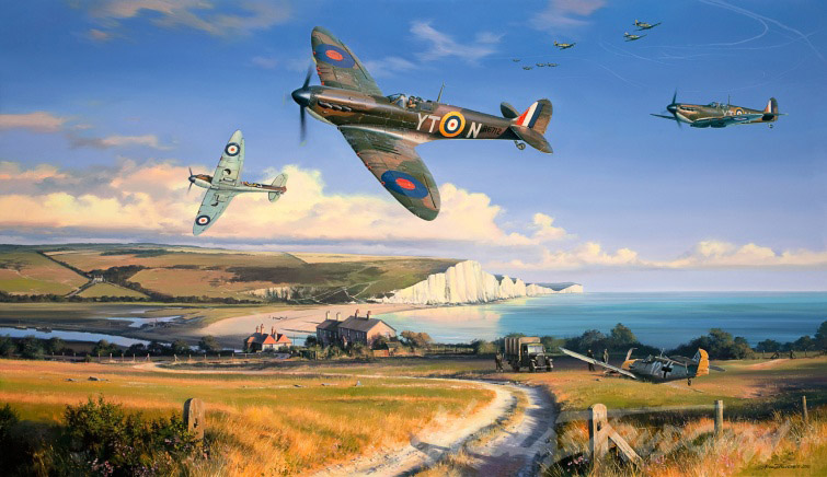 Painting of the Battle of Britain