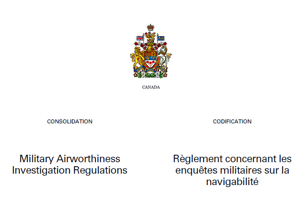 Military Airworthiness Investigation Regulations