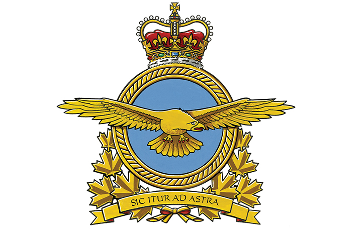 slide - Royal Canadan Air Force badge
