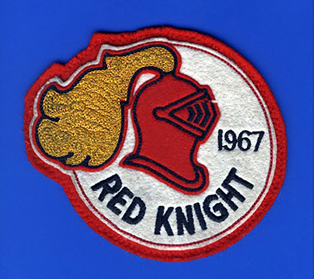 The RCAF Red Knight patch worn by team members in 1967. PHOTO:  Courtesy of Lieutenant-Colonel (retired) Dan Dempsey