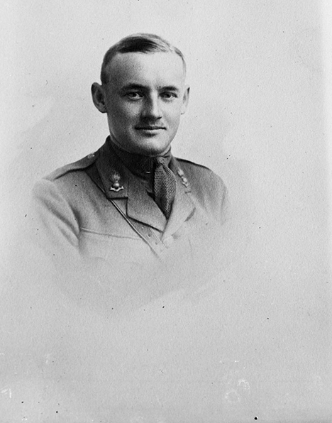 In this First World War photo, Lieutenant Conn Smythe wears a Canadian Army uniform. In May 1917, he was attached to the Royal Flying Corps as an artillery observer and appointed to the rank of flying officer. He encountered Captain William Barker at 53 Squadron, a training unit in Narborough, England, where Barker was working as a flying instructor. In October 1917, Smythe was shot down and spent the remainder of the war as a prisoner. Ten years later, Smythe appointed Barker as president of the Maple Leafs. PHOTO: LAC MIKAN 3221254, DND Archives PA-007522