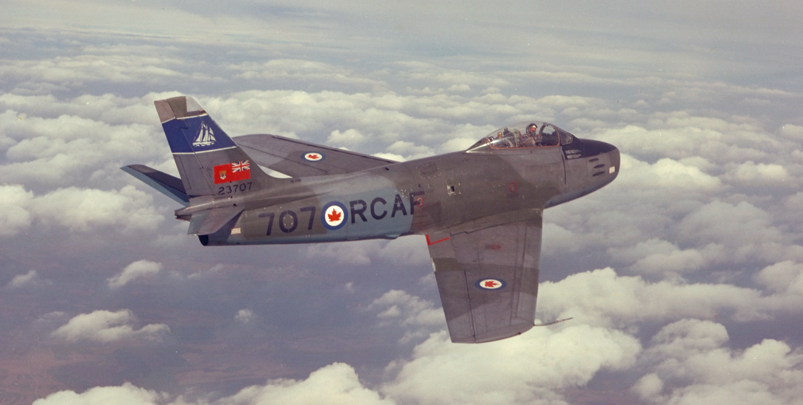 "An undated photo of an F-86 Sabre from 434 ""Bluenose"" Squadron. PHOTO: DND Archives, PCN-2667"