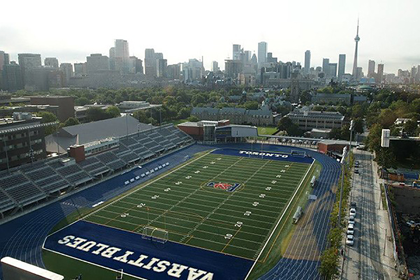 Varsity Stadium in Toronto, Ontario, was one of two tracks used for the North, Central America and Caribbean Region of World Masters Athletics (NCCWMA) Championships held in July 2019. PHOTO: Submitted