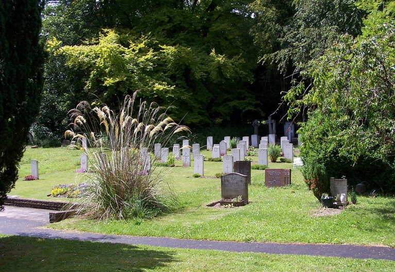 "At the beginning of the Second World War, a special plot, the ""Airman's Corner"", was set aside in St. Luke's Churchyard in Whyteleafe, Surrey, England, for the burial of airmen from Kenley Whyteleafe RAF Station at Croydon who were killed in air battles, or who died on other operational duties. The churchyard contains 38 Second World War graves, most of them in the plot. There are a few privately owned war graves elsewhere in the churchyard, together with five war burials from the First World War. The war graves plot also contains six post-war service graves and the graves of two Polish airmen. PHOTO: Commonwealth War Graves Commission"