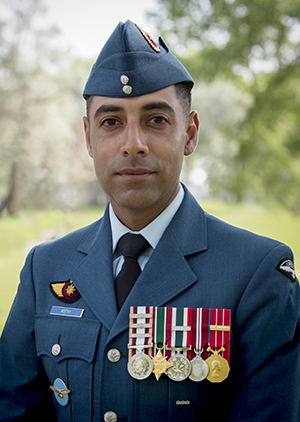 Portrait of Master Warrant Officer Dipen Mistry
